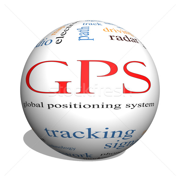 GPS 3D sphere Word Cloud Concept Stock photo © mybaitshop