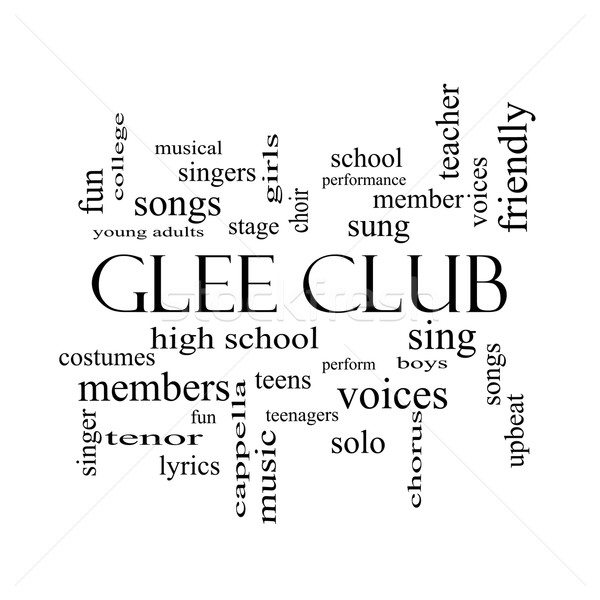 Glee Club Word Cloud Concept in black and white Stock photo © mybaitshop