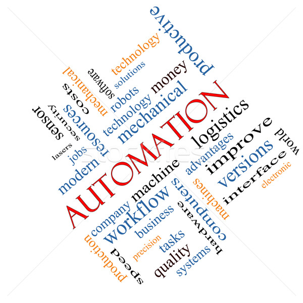 Automation Word Cloud Concept Angled Stock photo © mybaitshop
