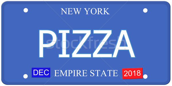 Pizza New York License Plate Stock photo © mybaitshop