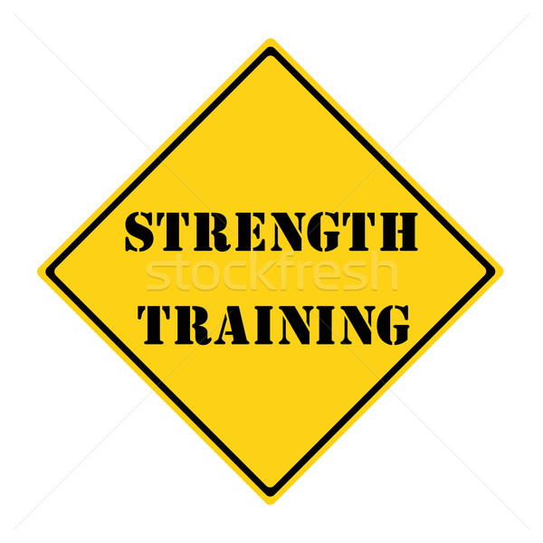 Strength Training Sign Stock photo © mybaitshop