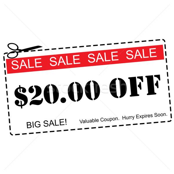 Vinte dólares venda vermelho Foto stock © mybaitshop