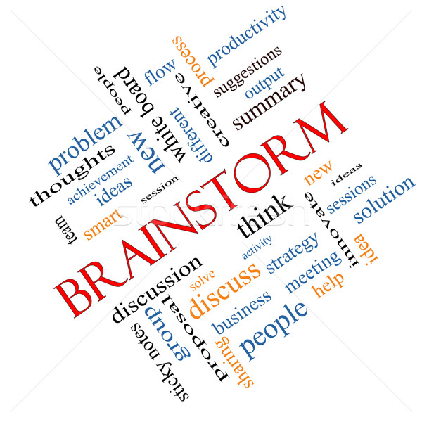 Brainstorm Word Cloud Concept Angled Stock photo © mybaitshop