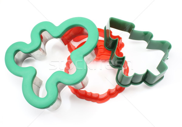 Three Holiday Cookie Cutters Stock photo © mybaitshop