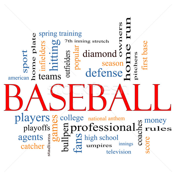 Baseball Word Cloud Concept Stock photo © mybaitshop
