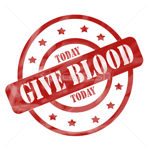 Rosso intemperie dare sangue oggi timbro Foto d'archivio © mybaitshop