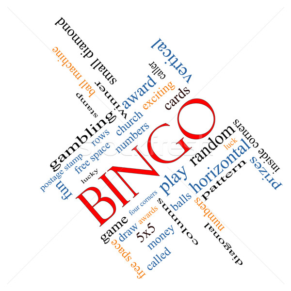 Bingo Word Cloud Concept Angled Stock photo © mybaitshop