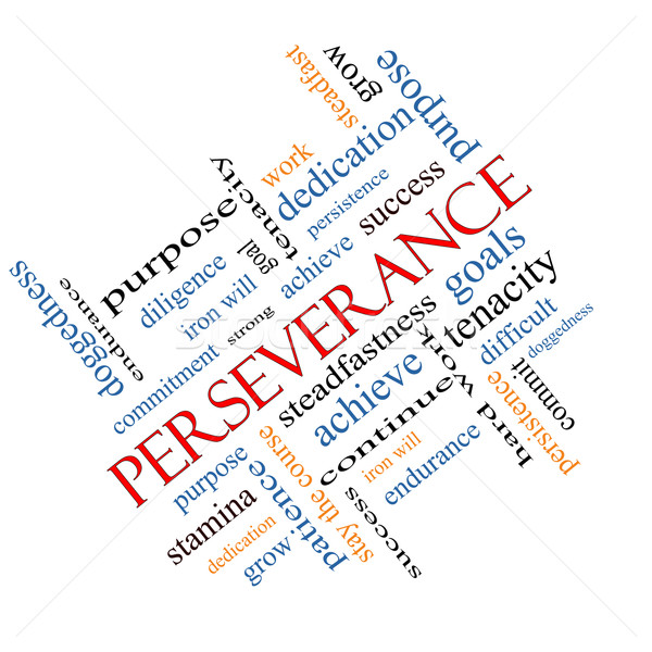 Perseverance Word Cloud Concept Angled Stock photo © mybaitshop