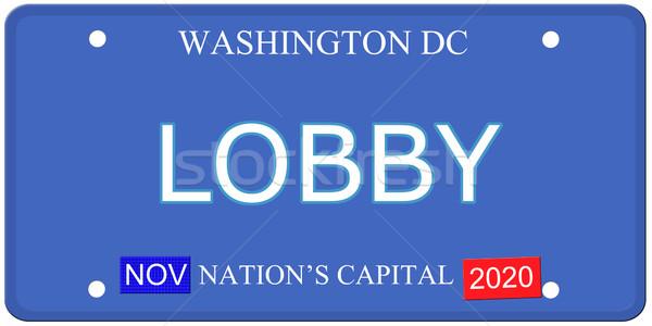 Washington DC lobby tablica rejestracyjna imitacja słowo Zdjęcia stock © mybaitshop