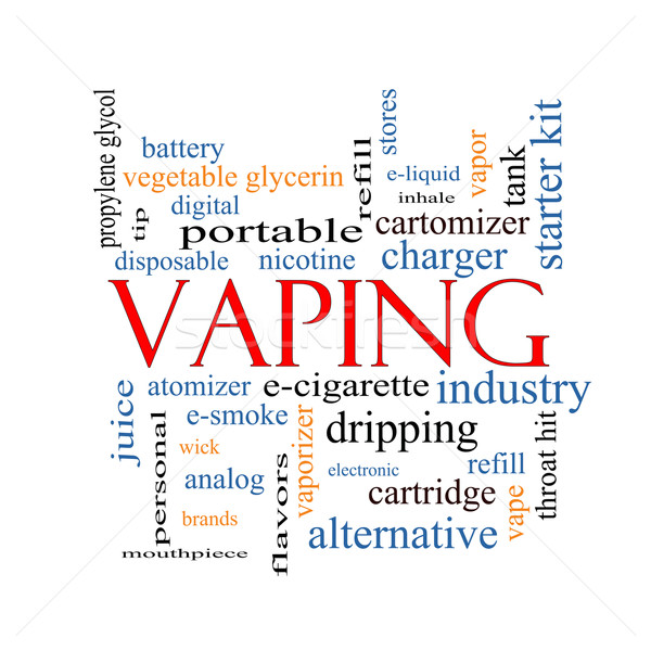 Vaping Word Cloud Concept Stock photo © mybaitshop