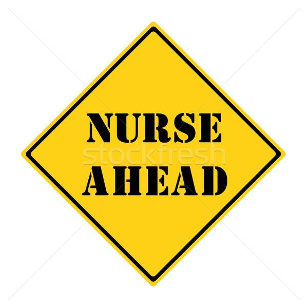 медсестры впереди знак желтый черный Diamond Сток-фото © mybaitshop