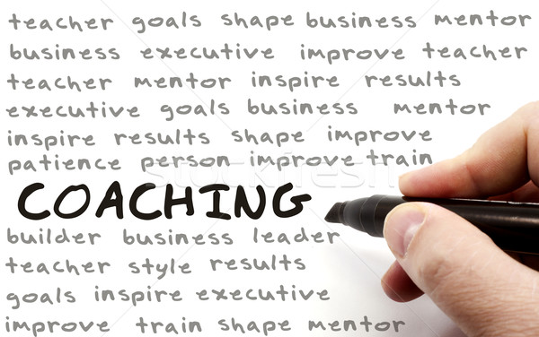Hand Writing Coaching Concept Stock photo © mybaitshop