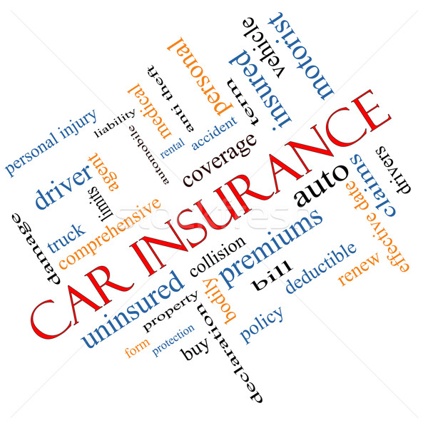 Car Insurance Word Cloud Concept Angled Stock photo © mybaitshop