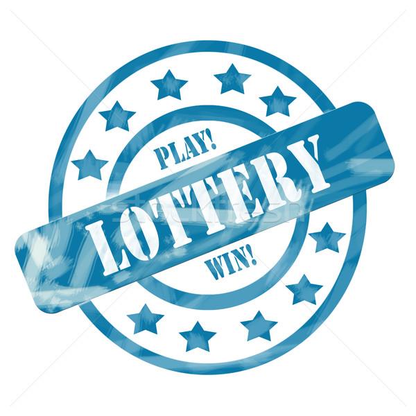 синий выветрившийся лотерея штампа Круги звезды Сток-фото © mybaitshop