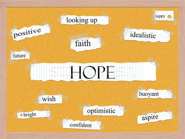 Hope Corkboard Word Concept Stock photo © mybaitshop