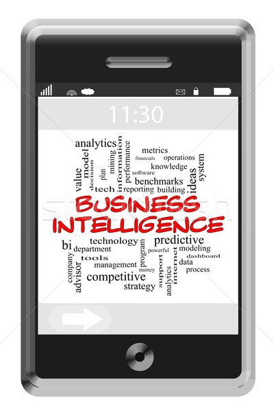 Stockfoto: Business · verstand · woordwolk · telefoon · groot