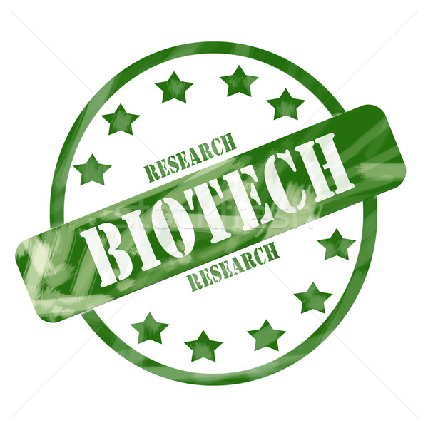 Verde intemperie biotech ricerca timbro cerchio Foto d'archivio © mybaitshop