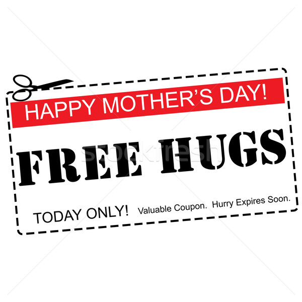 Free Hugs Happy Mother's Day Coupon Concept Stock photo © mybaitshop