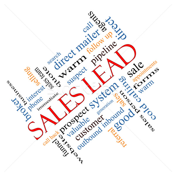 Sales Lead Word Cloud Concept Angled Stock photo © mybaitshop