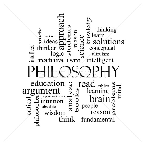 Philosophy Word Cloud Concept in black and white Stock photo © mybaitshop