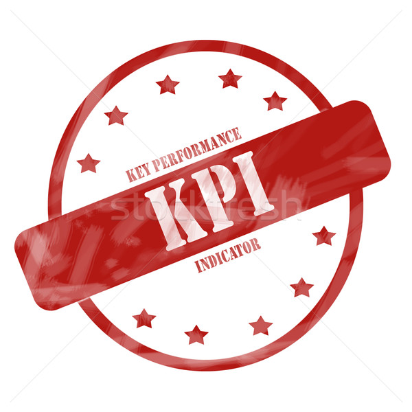 Red Weathered KPI Stamp Circle and Stars Stock photo © mybaitshop