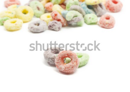 Close up of fruit ring cereal Stock photo © mybaitshop