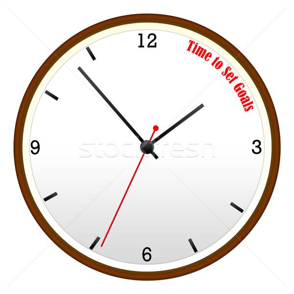 Zdjęcia stock: Czasu · zestaw · ściany · zegar