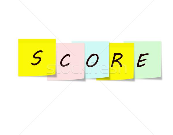 Score Sticky Notes Stock photo © mybaitshop