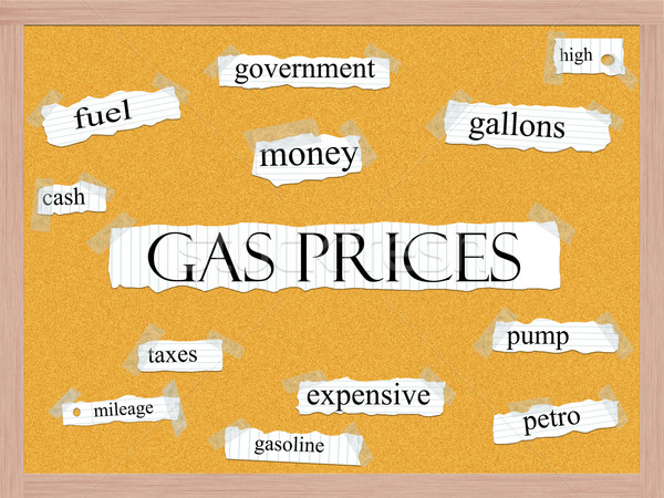Gas Prices Corkboard Word Concept Stock photo © mybaitshop