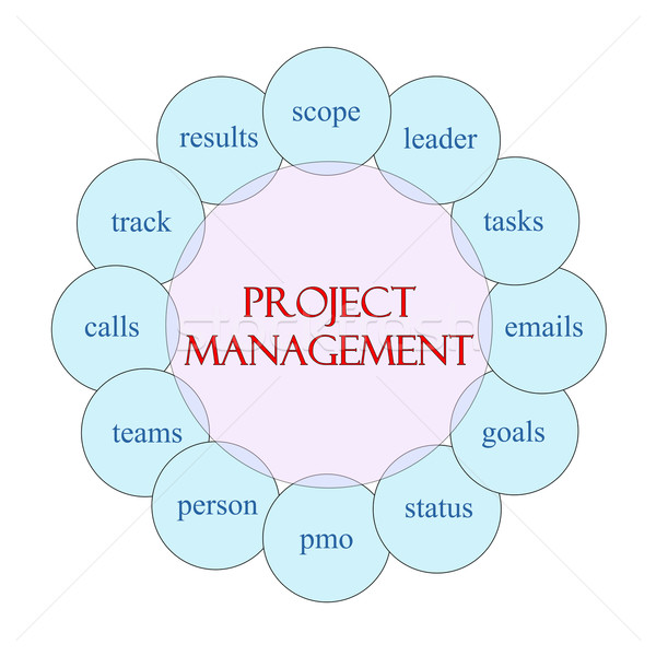 Project Managment Circular Word Concept Stock photo © mybaitshop