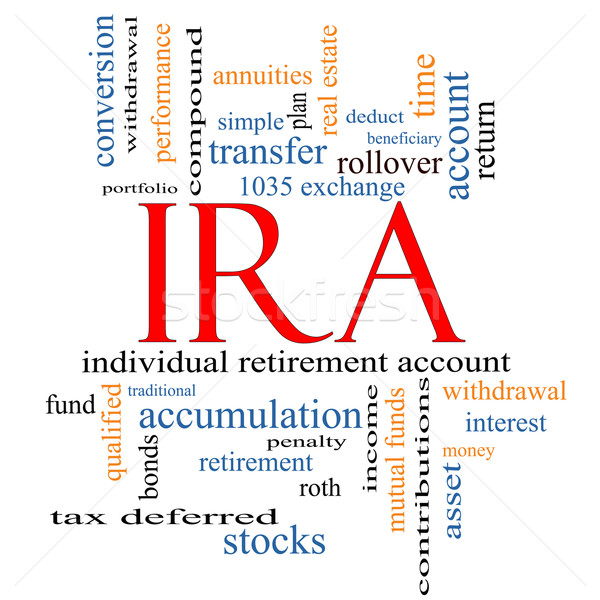 IRA Word Cloud Concept Stock photo © mybaitshop