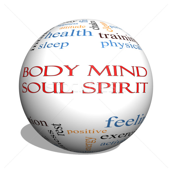Body Mind Soul Spirit 3D sphere Word Cloud Concept Stock photo © mybaitshop