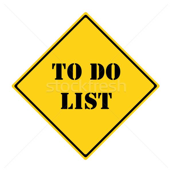 Para hacer la lista signo amarillo negro diamantes Foto stock © mybaitshop