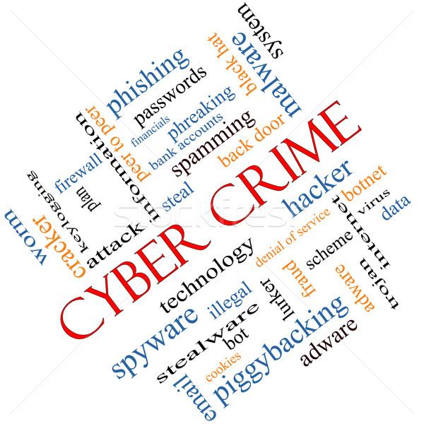 Сток-фото: преступление · слово · облако · хакер · вредоносных · данные