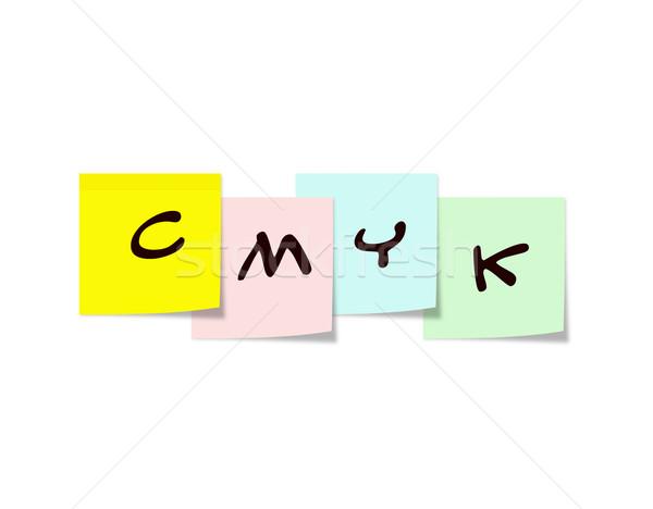 CMYK on Sticky Notes Stock photo © mybaitshop