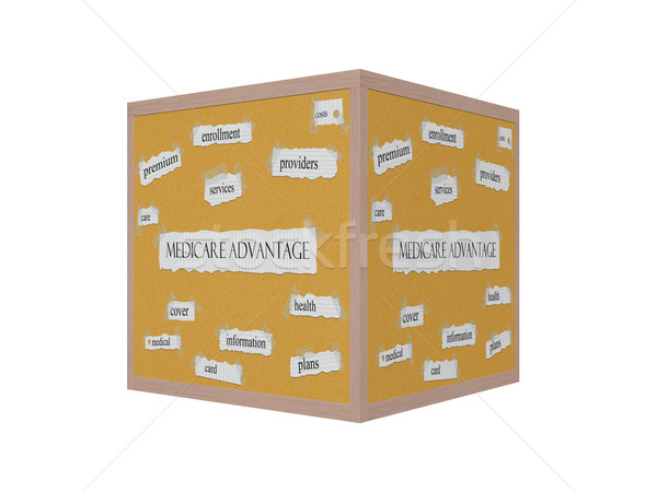 Medicare Advantage 3D Corkboard Word Concept Stock photo © mybaitshop