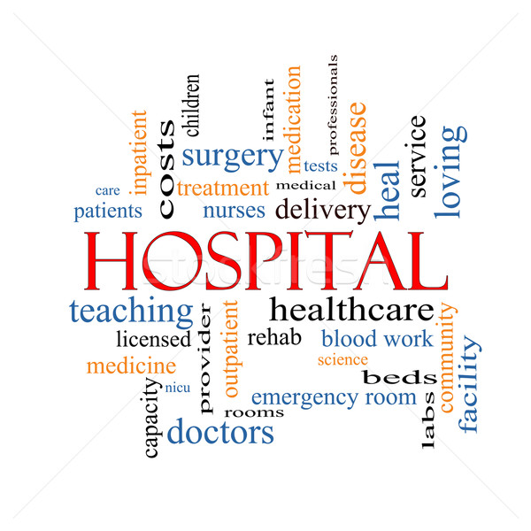 Hospital Word Cloud Concept Stock photo © mybaitshop