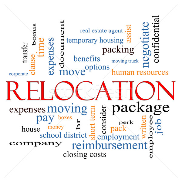 Relocation Word Cloud Concept Stock photo © mybaitshop