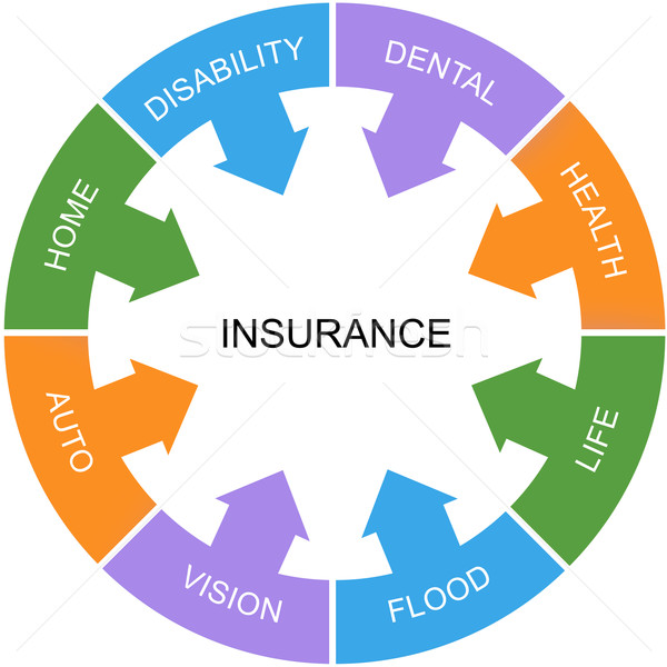 Insurance Word Circle Concept Stock photo © mybaitshop