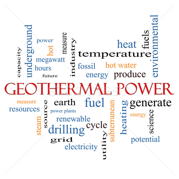 Geothermal Power Word Cloud Concept Stock photo © mybaitshop