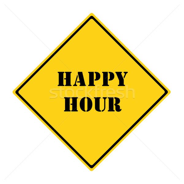 Happy Hour Sign Stock photo © mybaitshop