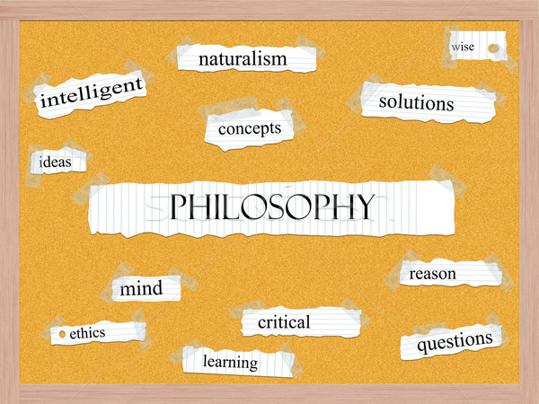 Philosophy Corkboard Word Concept Stock photo © mybaitshop