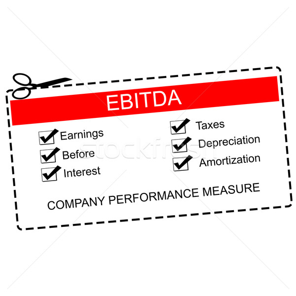 EBITDA Red Coupon Concept Stock photo © mybaitshop