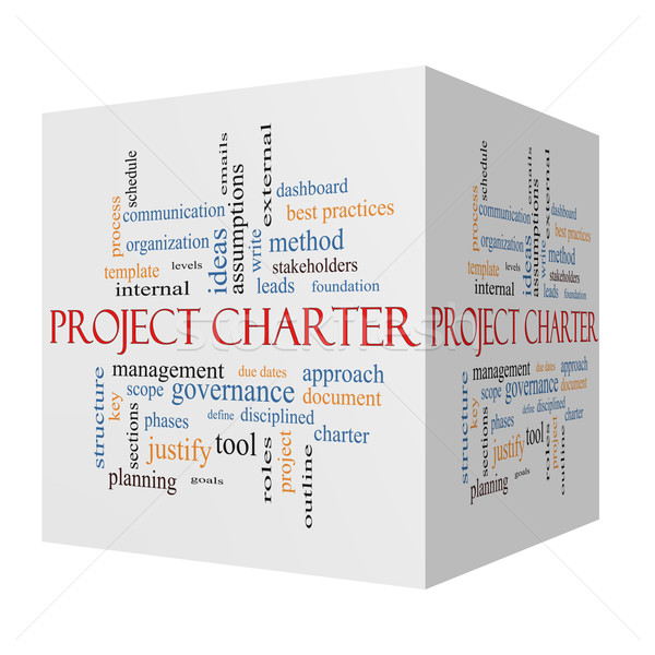Project Charter 3D cube Word Cloud Concept  Stock photo © mybaitshop