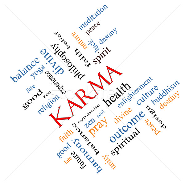 Karma Word Cloud Concept angled Stock photo © mybaitshop