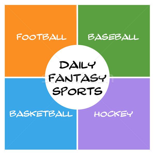 Daily Fantasy Sports Boxes and Circle Stock photo © mybaitshop