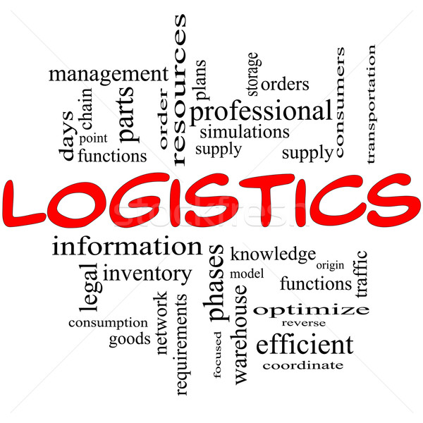 Logistics Concept in red and black Stock photo © mybaitshop