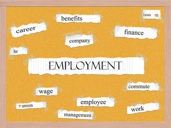 Employment Corkboard Word Concept Stock photo © mybaitshop