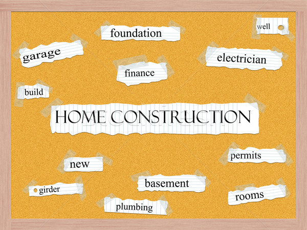 Home Construction Corkboard Word Concept Stock photo © mybaitshop