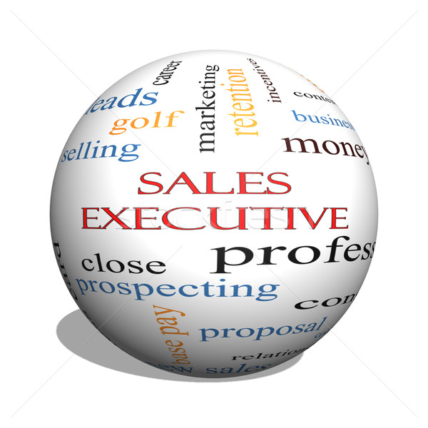 Sales Executive 3D sphere Word Cloud Concept Stock photo © mybaitshop